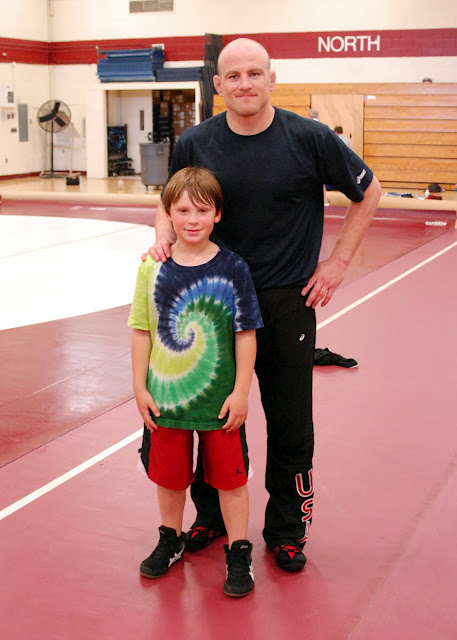 Cael Sanderson Visits North Shore HS
